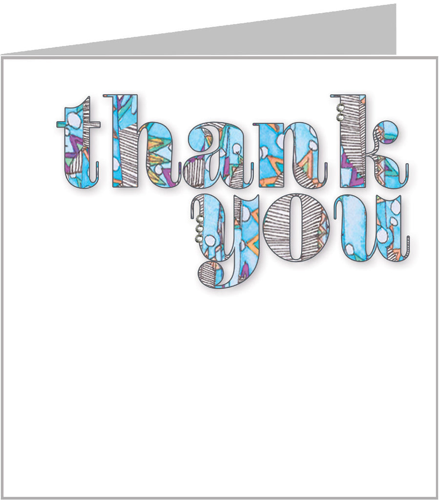 Jazzy thank you card by Valerie Valerie