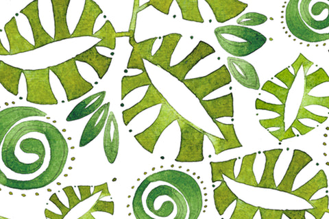 green leaf fabric by the yard