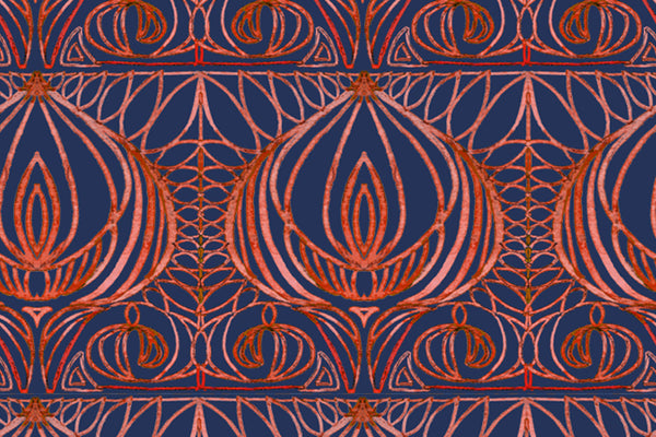 rich lotus fabric design