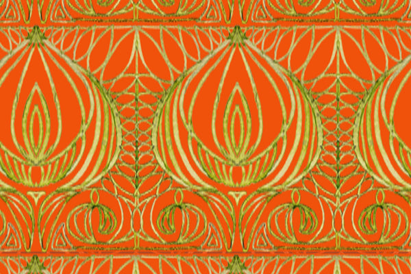 fabric by the card gold and orange