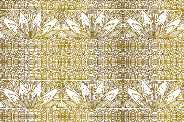 gold fabric design