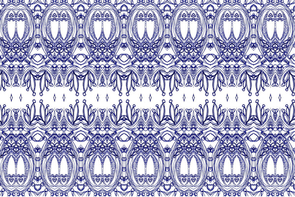 blue and white fabric by the metre