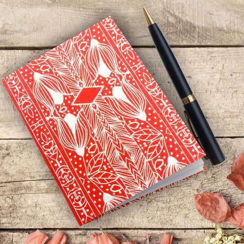 Handmade Mini Notebook, Swiss design in various colours