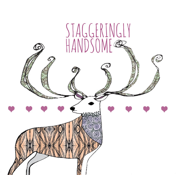 stag greetings card