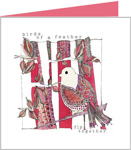 red bird greetings card