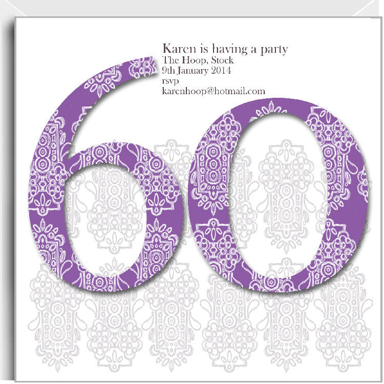 Alhambra 60th birthday party invitation