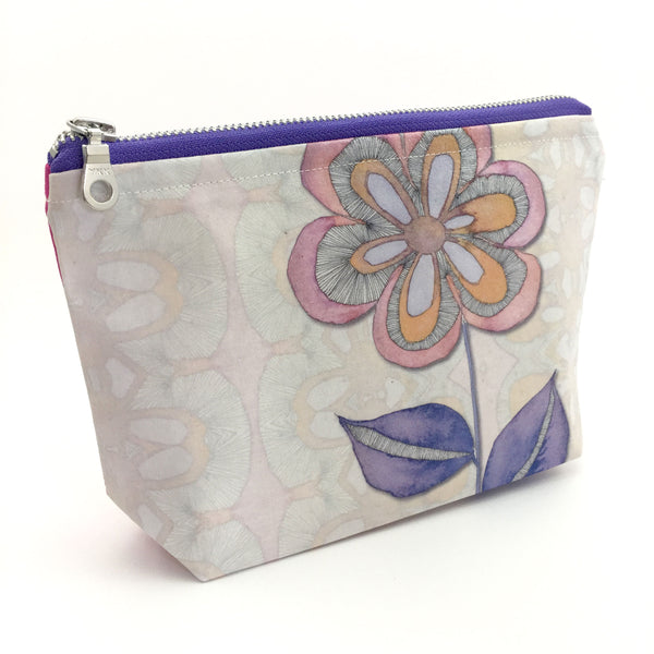 large floral make up bag