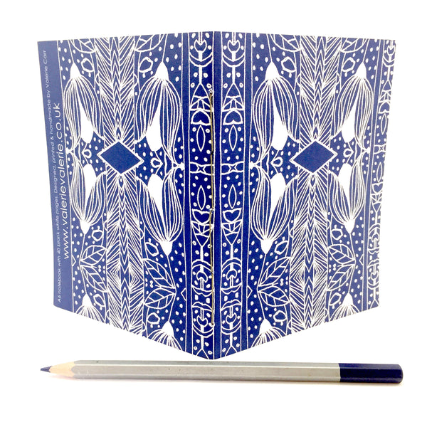 pretty blue notebook