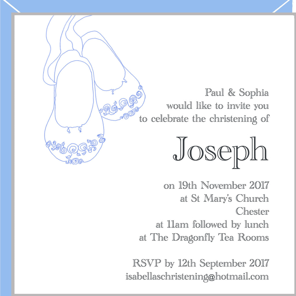 boys christening invitations