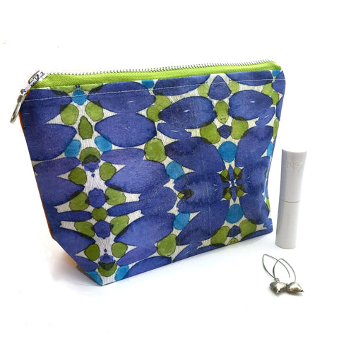 large cosmetic bag handmade