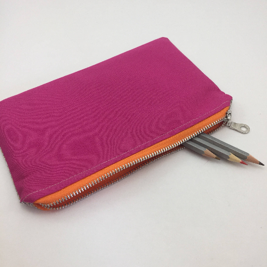 handmade zippered pencil case