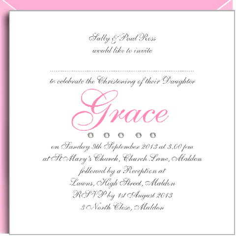 invitations pink crystals