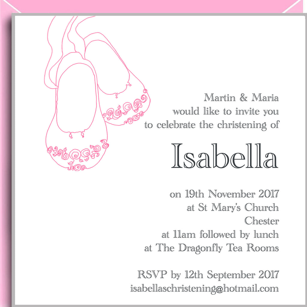 christening invitations for girls