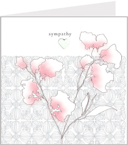 sympathy hand made greetings card, sweet pea 44-002