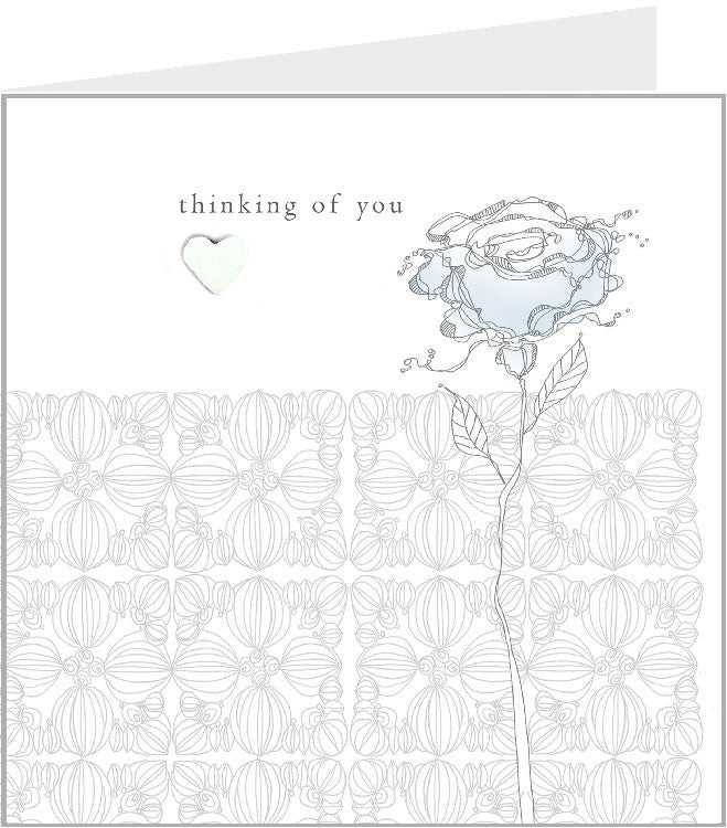 sympathy hand made greetings card, blue rose 44-003