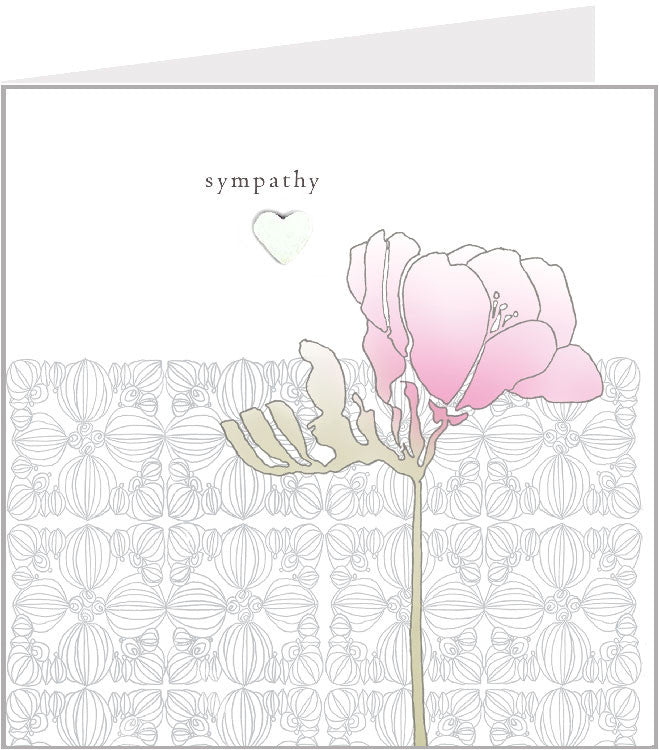 sympathy hand made greetings card, fresia 44-004