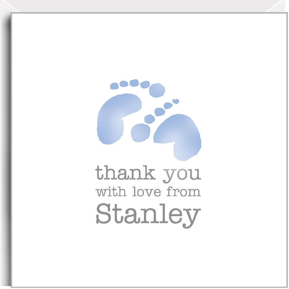 blue footprints thank you cards
