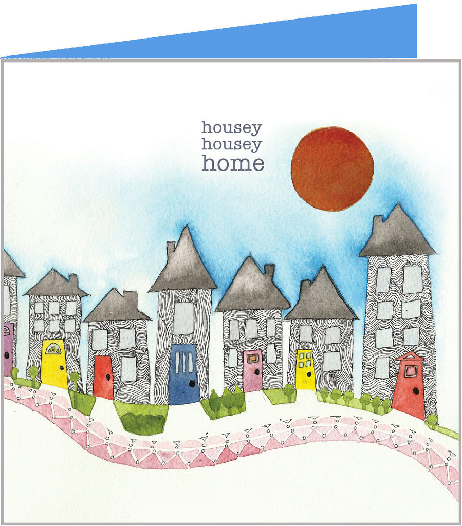 greetings card with house housey home