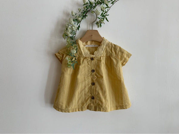V neck lace Baby Blouse - PIPIROO