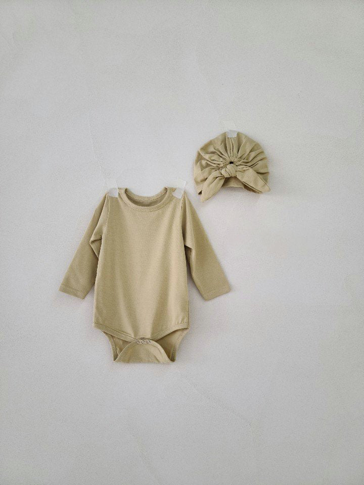 Baby Bodysuit & Turban set_2 Colours - PIPIROO