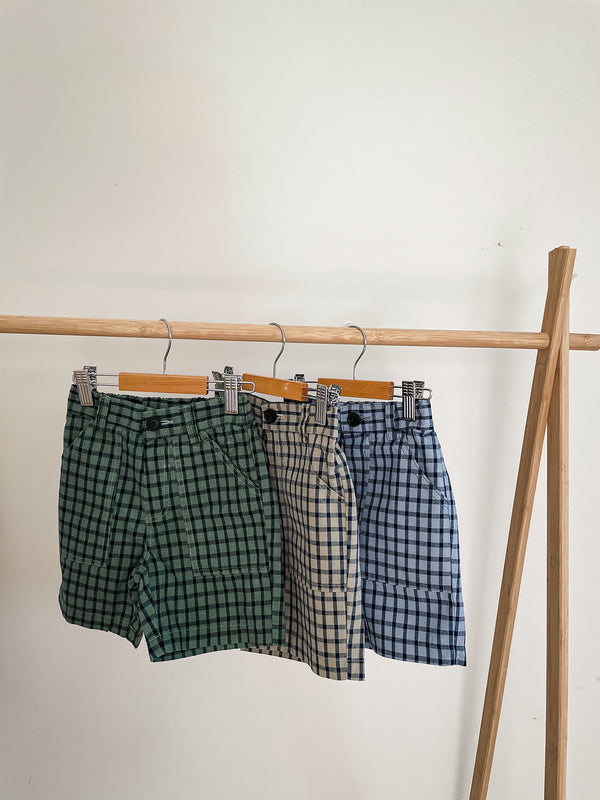 Brick Check Shorts 3 Colours - PIPIROO