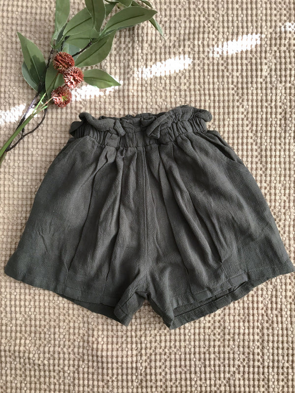 Paperbag waist girls shorts - PIPIROO