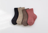 Choco-berry Rib Socks (Set of 4) - PIPIROO