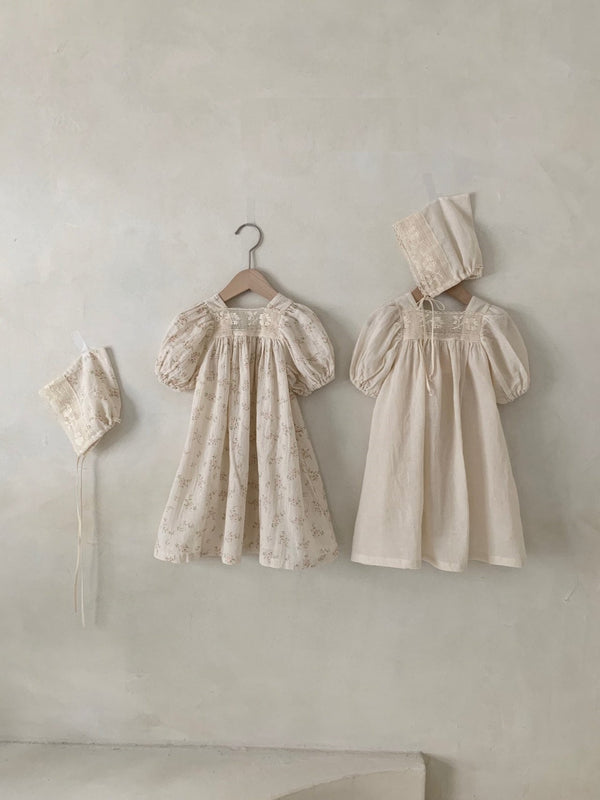 Vintage Dress_Floral/Cream - PIPIROO
