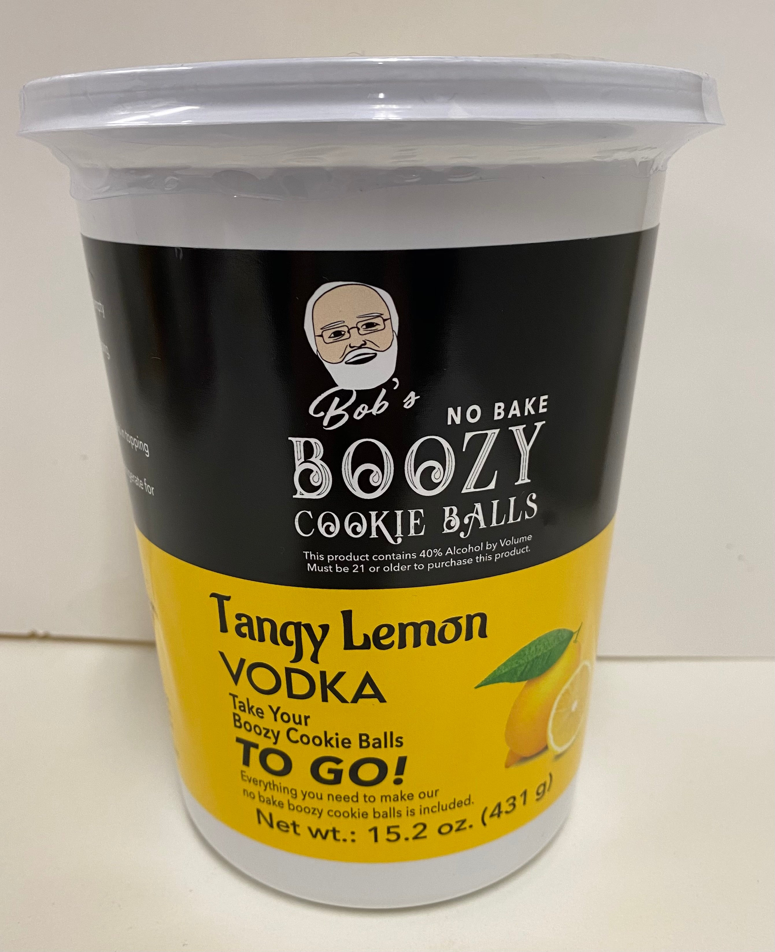 Tangy Lemon Vodka Boozy Cookie Ball Kit