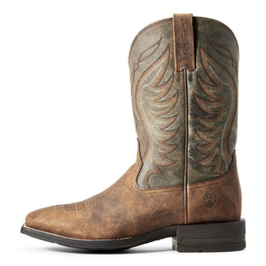 Ariat Men Amos Western Boot | Sorrel Crunch