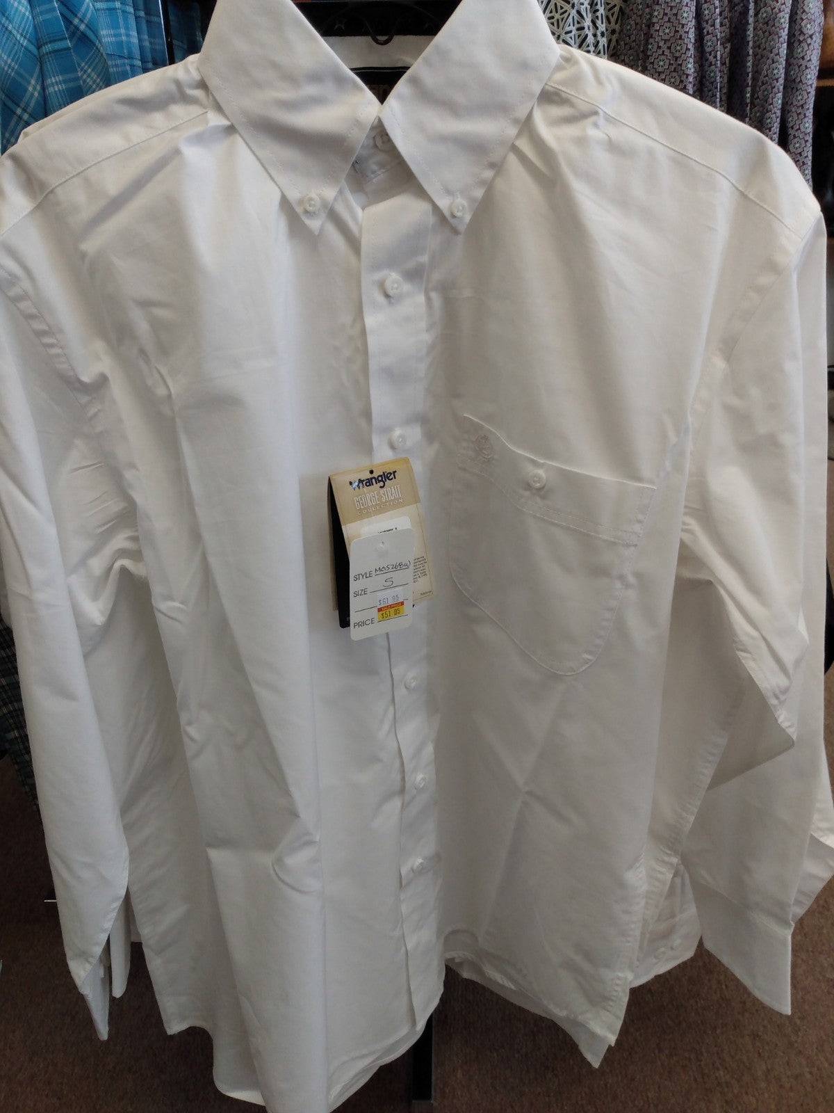 Wrangler Men Shirt George Strait Relaxed fit | White