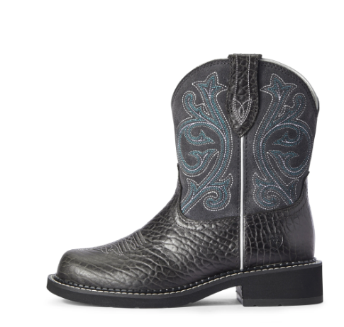 Ariat Women Fatbaby Heritage Western Boot | Black/ Gray