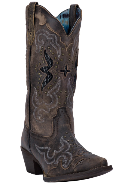Lucretia Womens cowboy boot | Gray/Black