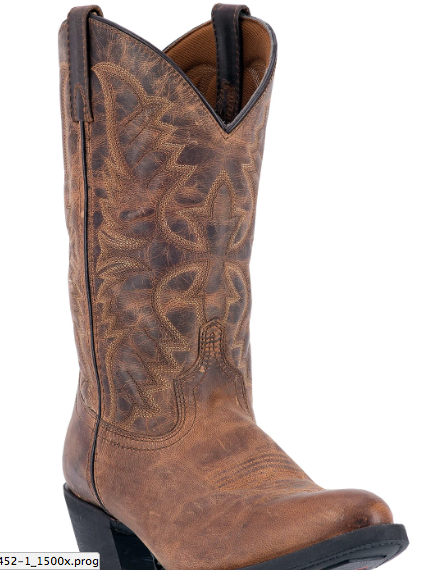 Birchwood mens cowboy boot | Distressed brown
