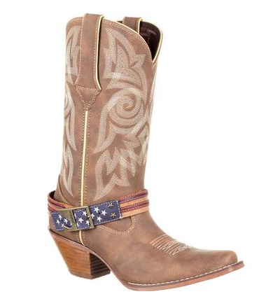 Durango Women's Flag Accessory Western Boot | Khaki