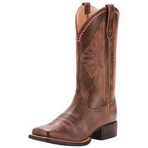 Ariat Women Round Up Rio | Gray/ Pink