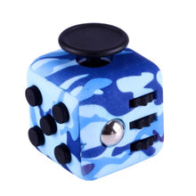 Load image into Gallery viewer, Camouflage Blue Fidget Cube