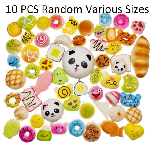 Squeeze Stress Relief Kawaii Toys Pack 10