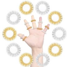 Load image into Gallery viewer, Acupressure Massage Rings GOLD