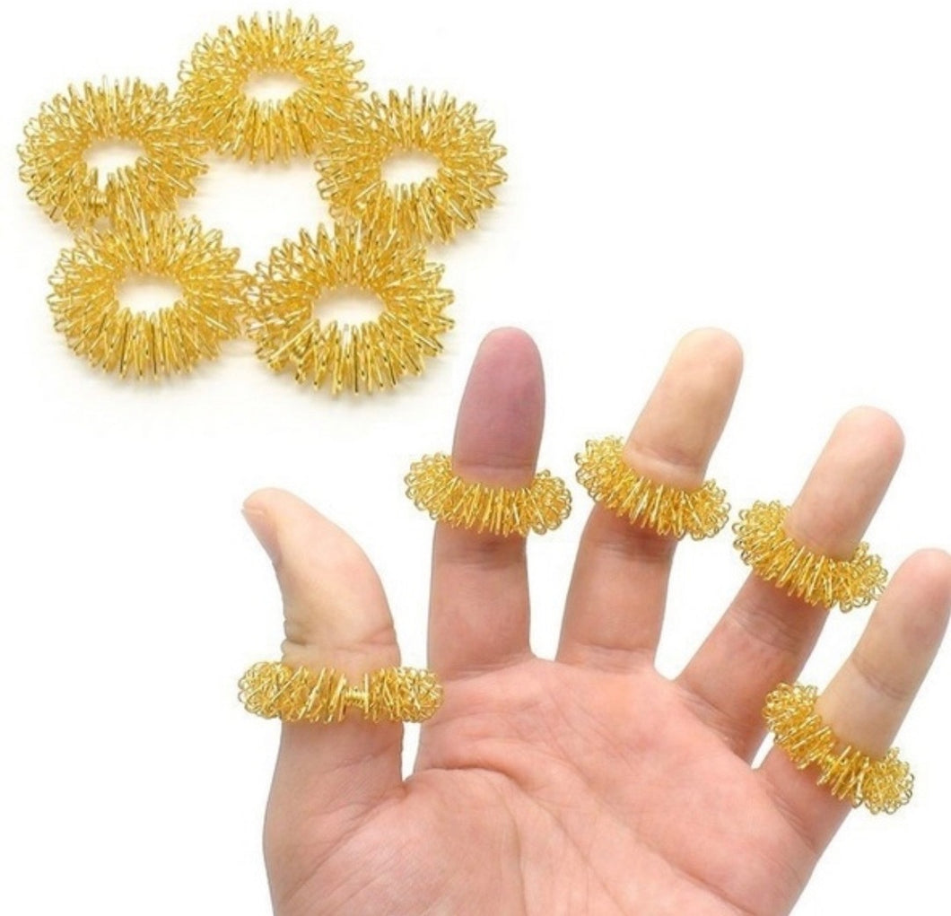 Acupressure Massage Rings GOLD