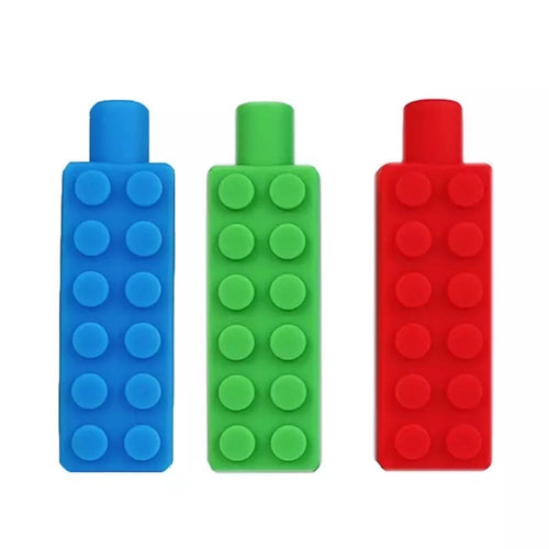 Lego Shape Pencil Topper Chew Toy
