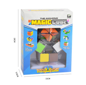 The Amazing Magic Cube - transforming Geometric Puzzle - 2 Cubes included