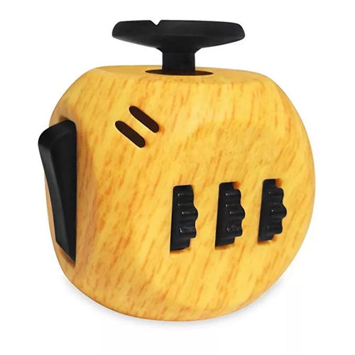 Wooden Design Fidget Cube