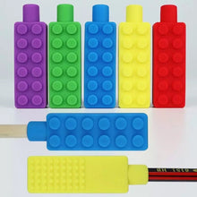 Load image into Gallery viewer, Lego Shape Pencil Topper Chew Toy