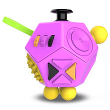 Load image into Gallery viewer, Fidget Cube 12 Sides Various Colours