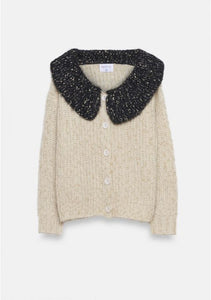Cardigan in maglia colletto Peter Pan