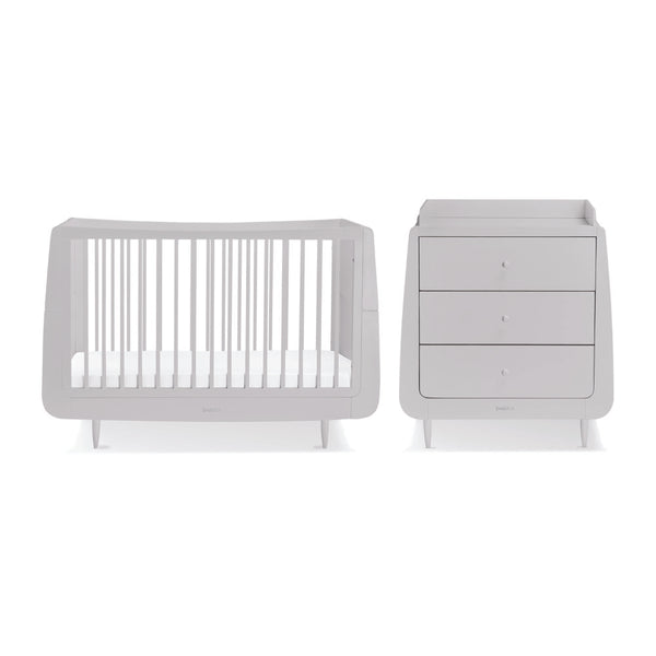 SnuzKot Skandi Haze Grey 2 Piece Nursery Furniture Set
