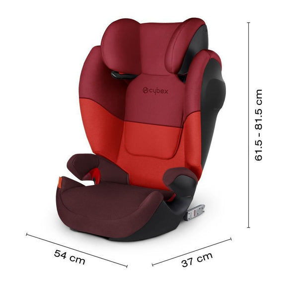 Cybex Solution M-Fix SL Toddler to Child Car Seat - Rumba Red