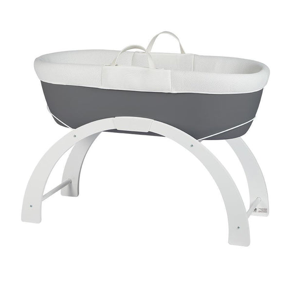 Dreami Moses Basket with Curve Stand Slate Grey