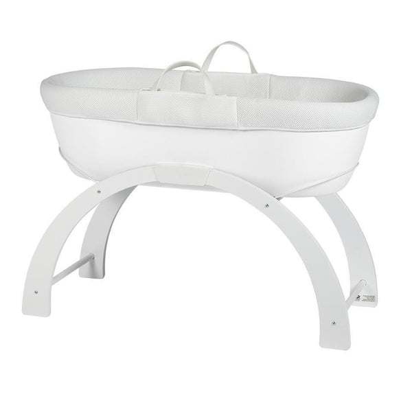 Dreami Moses Basket with Curve Stand White Base